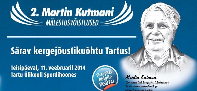 2. Martin Kutmani mälestusvõistlus toob hulgaliselt põnevust