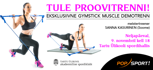 9. novembril Gymstick Muscle demotrenn