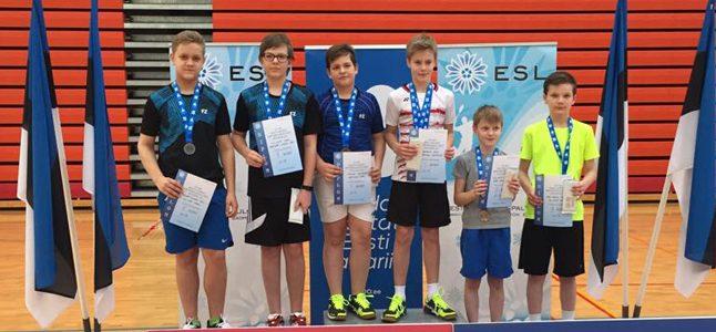 Sulgpallurid esinesid hästi Eesti Noorte Meistrivõistlustel