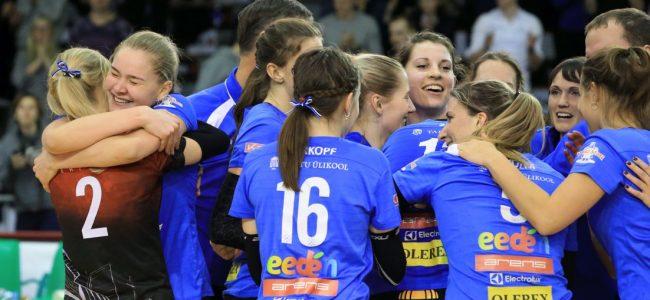 Tartu Ülikool/Eeden võrkpallinaiskond võitis EMV avamängus Kohilat