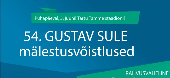 Tartus toimub 54. Gustav Sule mälestusvõistlus