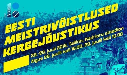 EV100 Eesti meistrivõistlused kergejõustikus