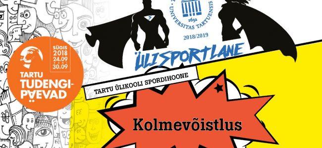 Tartu Ülikooli ÜLISPORT kutsub kolmevõistlusele!