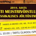 TÜ Spordihoones toimusid Eesti Meistrivõistlused klassikalises jõutõstmises