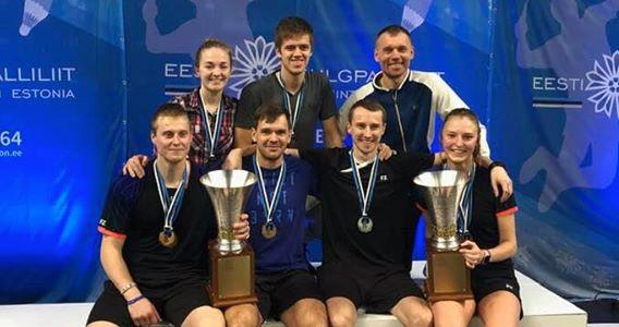 Sulgpallurid võitsid Eesti meistrivõistlustelt hulgaliselt medaleid