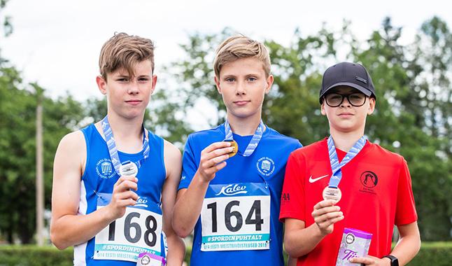 Eesti meistrivõistlustelt kokku 45 medalit, neist 13 kulda