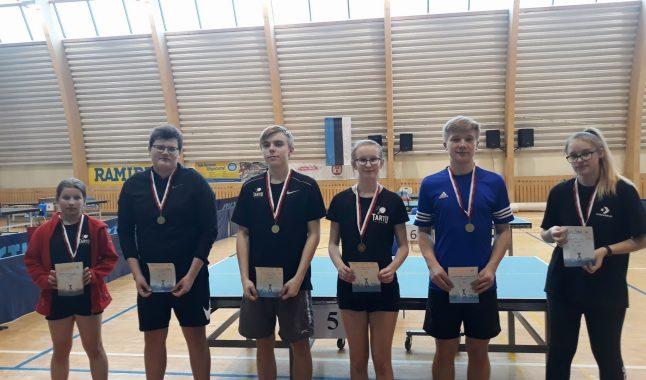 TÜASK lauatennisistid olid edukad Tartu meistrivõistlustel!