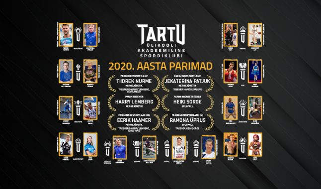 Tartu Ülikooli Akadeemilise Spordiklubi 2020. aasta parimad on Nurme ja Patjuk