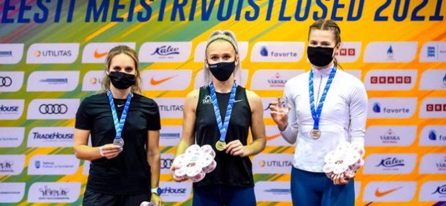 Kergejõustiku täiskasvanute meistrivõistlustelt võideti kaheksa medalit