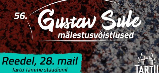 56. Gustav Sule mälestusvõistlus toob starti üle 100 kergejõustiklase